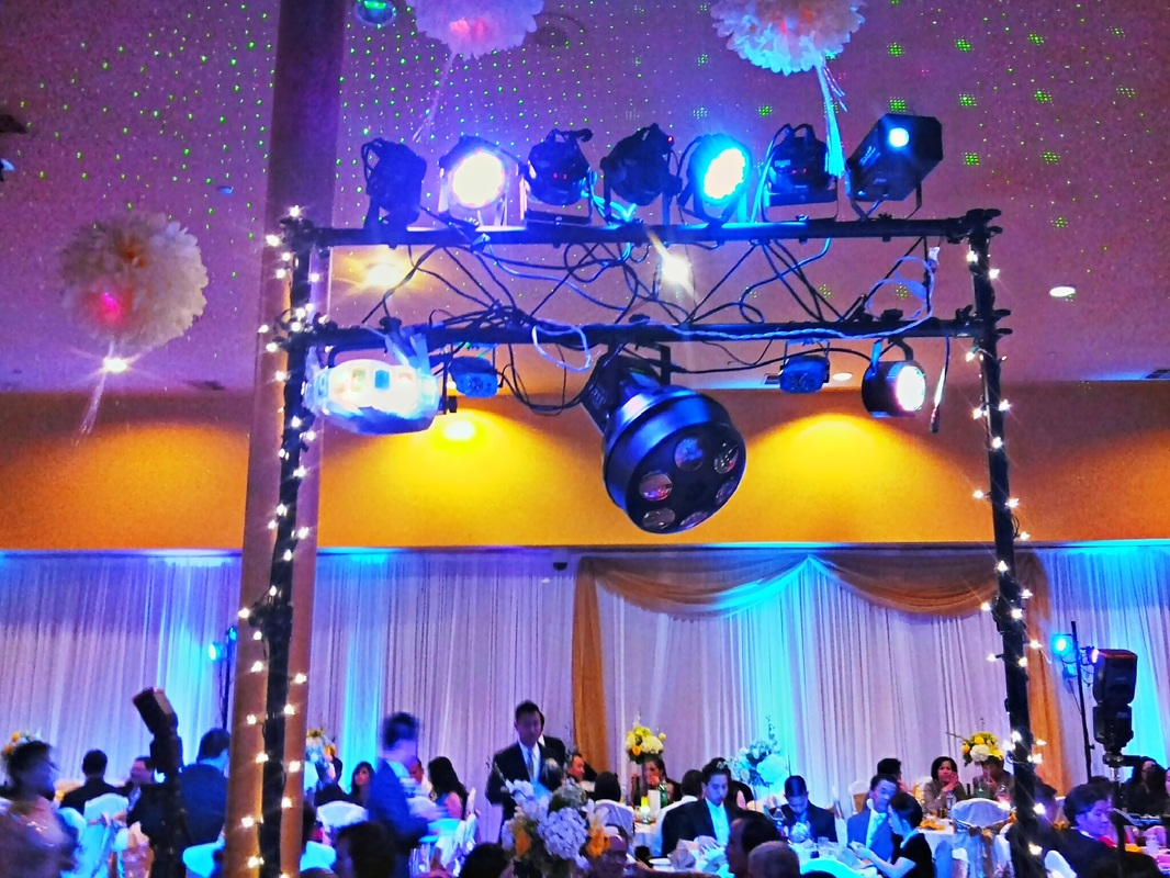Jasmine Seafood Restaurant Wedding Lighting, San Diego Sound and Lighting Rental