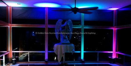Beverly Hills Sound & Lighting, Wedding Lighting Rental, LED Up Lights for Rent, Uplighting Beverly Hills