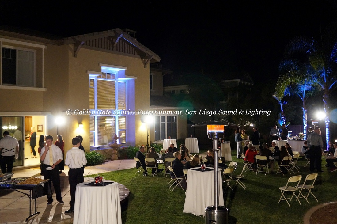 Outdoor flood lighting rental for weddings events in san diego affordable lighting rental services for wedding events in southern california aloadofball Gallery