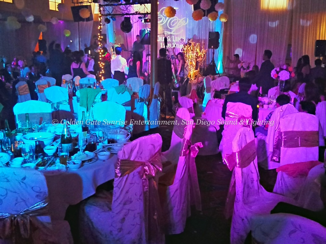 Beverly Hills Sound & Lighting, Los Angeles Lighting Rental, Blue & Purple Color Wash Lighting