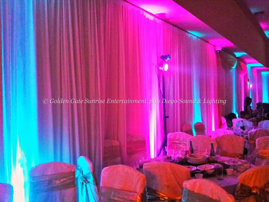 Led Up Lights In San Go Wedding Lighting Decorations